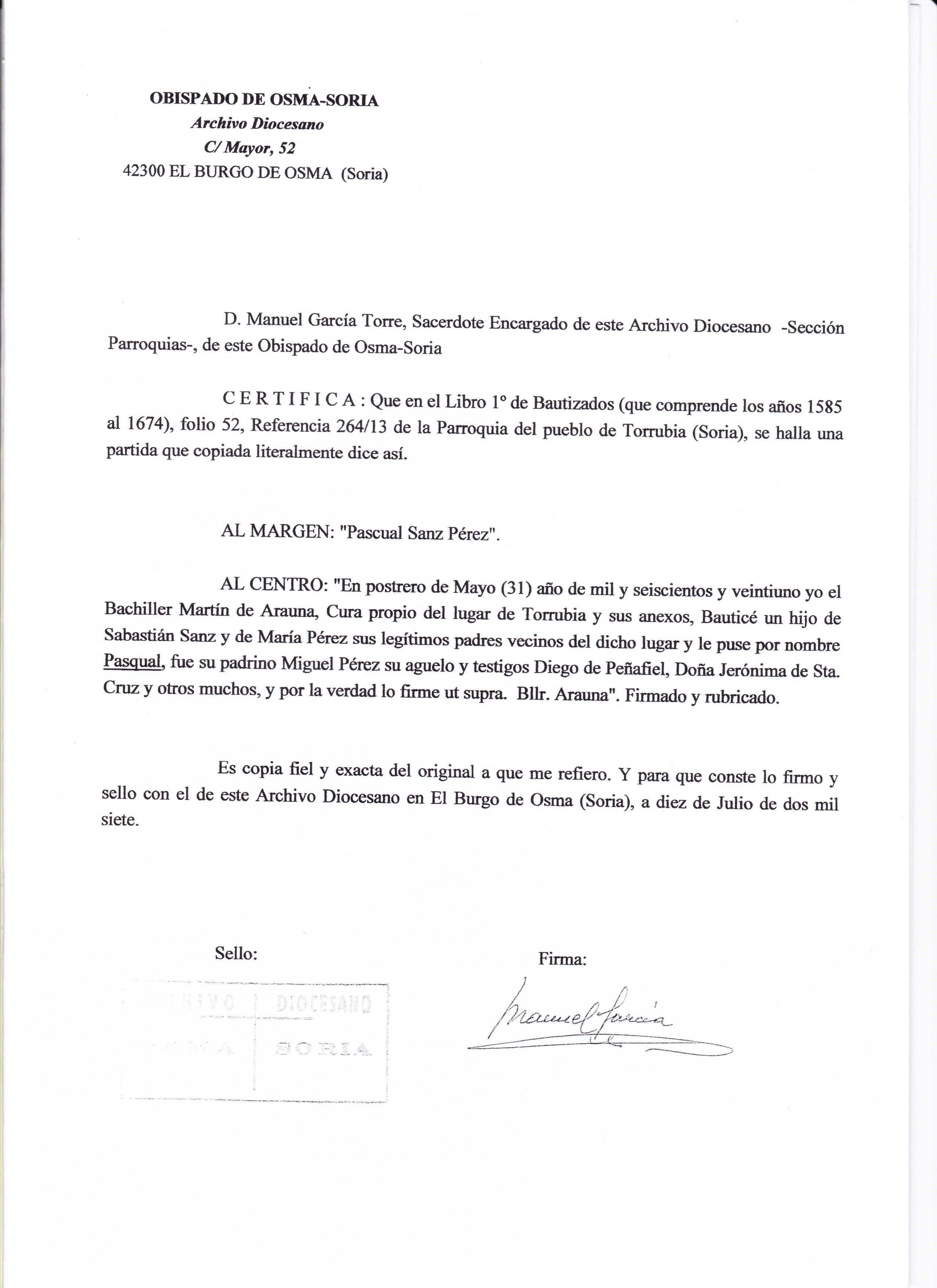 Certificado De Matrimonio Y Partida De Bautismo Asociación Cultural Y Gastronómica
