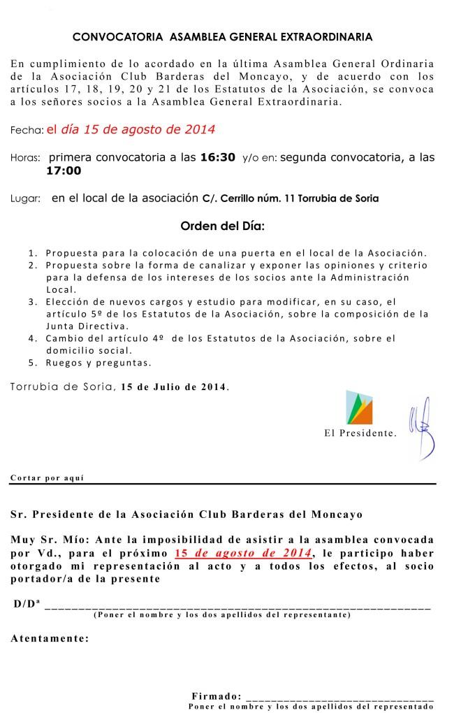 Microsoft Word - 2014-08-Convocatoria de Junta Extraordinaria Ac