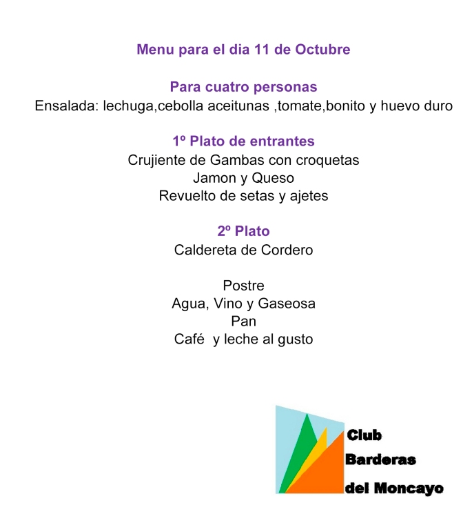 cartel de la comida del Pilar