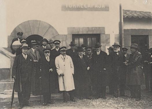 Inauguración de la estación de Torrelapaja (21/10/1929). Personalidades